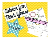 5th Grade End of the Year Brochure - Advice for Future Students from Students