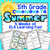 5th Grade End of the Year ELA: 5 Week ELA Review Countdown (5th Grade)