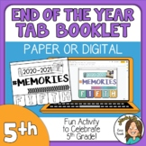 5th Grade End of the Year Memory Activity 2021 Print or Di