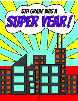 5th Grade End of the Year Memory Book & Craft {Superhero Themed}