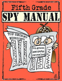 End of the Year Memory Book: 5th Grade Spy Manual Theme