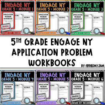 5th Grade Engage NY Application Problem Workbook Bundle (Modules 1 - 6)