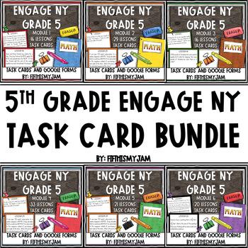 5th Grade Engage NY Application Problem Task Card  Bundle (Modules 1-6)