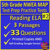 5th Grade Engage NY ELA Test Prep Practice Printable & SELF-GRADING GOOGLE FORMS