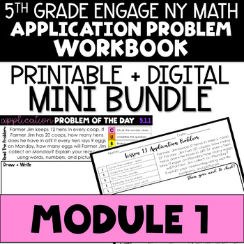 5th Grade Engage NY & Eureka Math Module 1 Application Problems -  ALL LESSONS