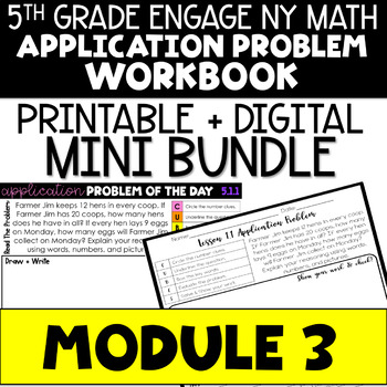5th Grade Engage NY & Eureka Math Module 3 Application Problems - ALL LESSONS