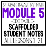 5th Grade Engage NY & Eureka Math Module 5: ALL LESSONS 1-21 LESSON NOTES
