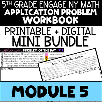 5th Application Problems - Engage NY Math Module 5 - Distance Learning Bundle