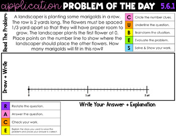 5th Grade Engage NY Eureka Math Module 6 Application Problems - ALL LESSONS