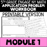 5th Application Problems - Engage NY Module 1 - Printable