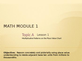 5th Grade Engage NY Math Module 1 Lesson 1