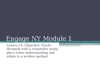 5th Grade Engage NY Math Module 1 Lesson 14