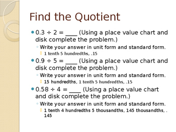 5th Grade Engage NY Math Module 1 Lesson 16