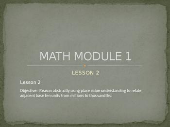 5th Grade Engage NY Math Module 1 Lesson 2