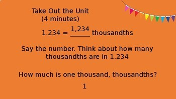 5th Grade Engage NY/Eureka Math Module 1 Topic E PowerPoint