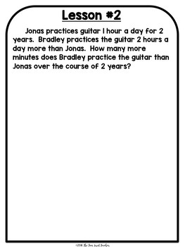5th Grade Engage NY Math Module 2 - Application Problem Workbook