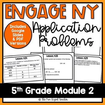 5th Grade Engage NY Math Module 2 - Application Problem Workbook