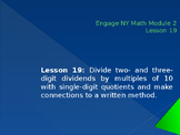 5th Grade Engage NY Math Module 2 Lesson 19