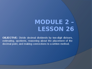 5th Grade Engage NY Math Module 2 Lesson 26