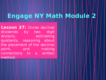 5th Grade Engage NY Math Module 2 Lesson 27