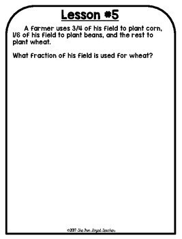 5th Grade Engage NY Math Module 3 - Application Problem Workbook
