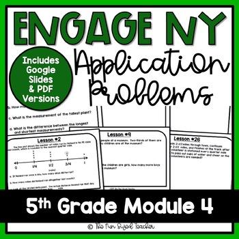 5th Grade Engage NY Math Module 4 - Application Problem Workbook