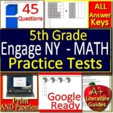 5th Grade Engage NY Math Test Prep Practice - Print and Paperless