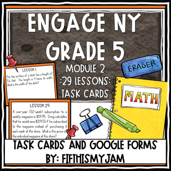 5th Grade Engage NY Module 2 Application Problem Task Cards