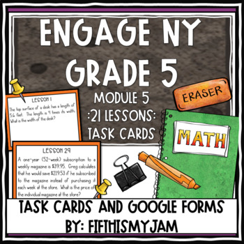 5th Grade Engage NY Module 5 Application Problem Task Cards