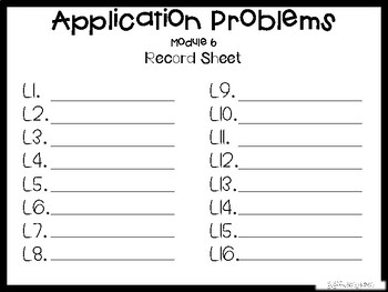 5th Grade Engage NY Module 6 Application Problem Task Cards
