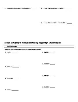 5th Grade Engage New York/Eureka Module 1 Fluency Practice