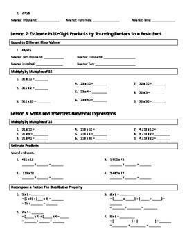 5th Grade Engage New York/Eureka Module 2 Fluency Practice