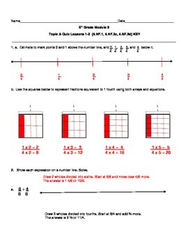 5th Grade EngageNY/Eureka Math Module 3 All Topics Assessments