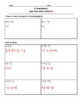 5th Grade EngageNY/Eureka Math Module 3 Topic C Quiz/Review