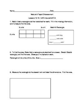 5th Grade EngageNY/Eureka Math Module 5 Topic C Quiz/Review