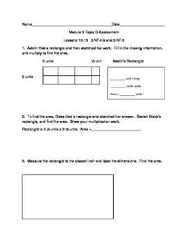 5th Grade EngageNY/Eureka Math Module 5 Topic C Quiz/Review