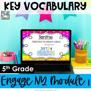 5th Grade EngageNY/Eureka Math - Module 1 Key Vocabulary Definition Posters
