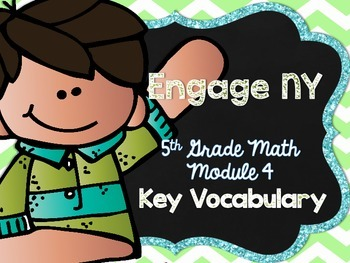 5th Grade EngageNY/Eureka Math - Module 4 Key Vocabulary Definition Posters