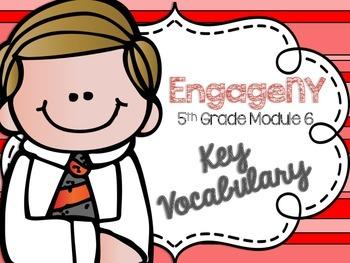 5th Grade EngageNY/Eureka Math - Module 6 Key Vocabulary Definition Posters