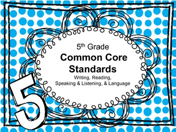 5th Grade English Language Arts Common Core Standards