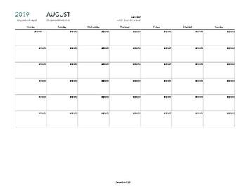 5th Grade English Language Arts Pacing Calendar