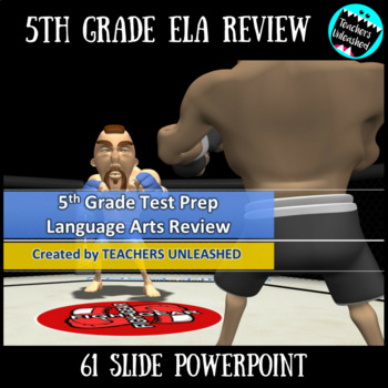 5th Grade English Language Arts Review PowerPoint and Test Prep