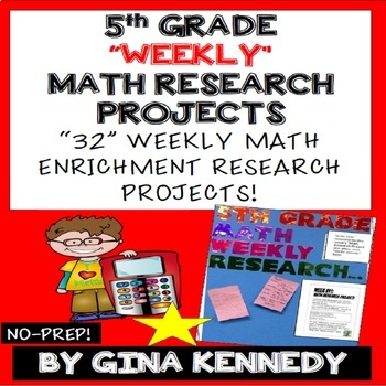 5th Grade Math Projects Weekly Math Enrichment Projects For The