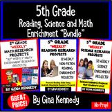5th Grade Enrichment Project Bundle! Reading, Science, Mat