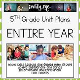 5th Grade Math Yearlong Bundle Follows TEKs