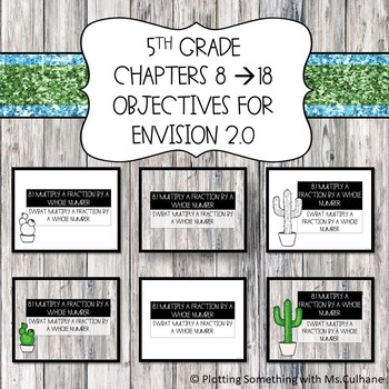 5th Grade Envision 2.0 Objectives - Chapters 8 Through 16