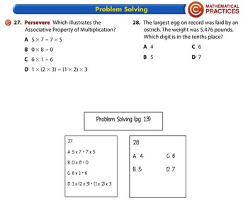 5th Grade, Envision Topic 1: Place Value