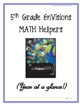 Envision Math Helpers (5th Grade)