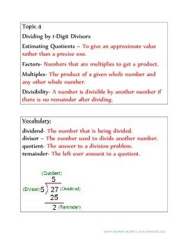 Envisions Math Topic 4 (5th Grade)