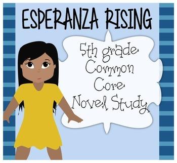 5th Grade Esperanza Rising Common Core Novel Study {Ch. 1-5}